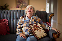 isom1212  112910254lh  12/9/10- Penny Isom (CQ) laughs while telling stories about her life with her husband Ben Isom. Ben, who was an Alzheimer patient, wandered off into the desert and was found dead. (Pat Shannahan/ The Arizona Republic)