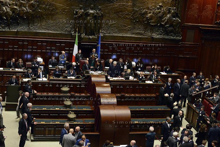 Roma, 20 Aprile 2013.Camera dei Deputati.Votazione del Presidente della Repubblica a camere riunite..Panoramica