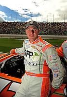 Oct. 3, 2009; Kansas City, KS, USA; NASCAR Nationwide Series driver Peyton Sellers during the Kansas Lottery 300 at Kansas Speedway. Mandatory Credit: Mark J. Rebilas-