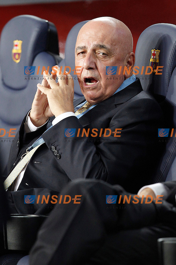 AC Milan's Adriano Galliani during Champions League match on september 13th 2011...Photo: Cesar Cebolla / ALFAQUI