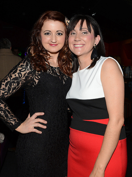 Lucy and Orla Crosby pictured at the benefit night for DJ Tayo Sheridan in Galaxy Night Club. Photo:Colin Bell/pressphotos.ie