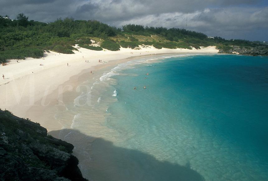 Bermuda, beach, Horseshoe Bay, Southampton Parish, Horseshoe Beach on Horseshoe Bay in Southampton Parish in Bermuda.