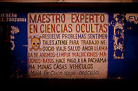 .Wall sign of a witchcrafter in El Alto.Just 25 years ago it was a small group of houses around La Paz  airport, at an altitude of 12,000 feet. Now El Alto city  has  nearly one million people, surpassing even the capital of Bolivia, and it is the city of Latin America that grew faster ...It is also a paradigmatic city of the troubles  and traumas of the country. There got refugee thousands of miners that lost  their jobs in 90 ¥s after the privatization and closure of many mines. The peasants expelled by the lack of land or low prices for their production. Also many who did not want to live in regions where coca  growers and the Army  faced with violence...In short, anyone who did not have anything at all and was looking for a place to survive ended up in El Alto...Today is an amazing city. Not only for its size. Also by showing how its inhabitants,the poorest of the poor in one of the poorest countries in Latin America, managed to get into society, to get some economic development, to replace their firs  cardboard houses with  new ones made with bricks ,  to trace its streets,  to raise their clubs, churches and schools for their children...Better or worse, some have managed to become a sort of middle class, a section of the society that sociologists call  emerging sectors. Many, maybe  most of them, remain for statistics as  poor. But clearly  all of them have the feeling they got  for their children a better life than the one they had to face themselves .