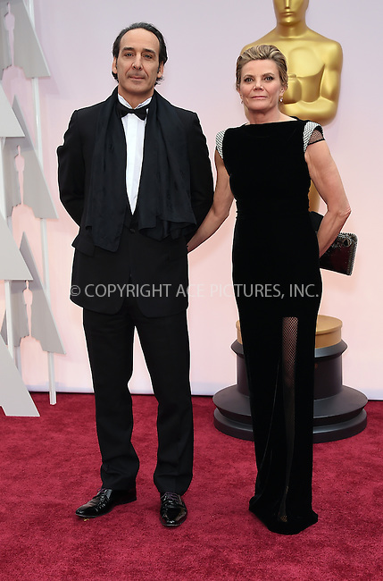 WWW.ACEPIXS.COM<br /> <br /> February 22 2015, LA<br /> <br /> Alexandre Desplat arriving at the 87th Annual Academy Awards at the Hollywood &amp; Highland Center on February 22, 2015 in Hollywood, California.<br /> <br /> By Line: Z15/ACE Pictures<br /> <br /> <br /> ACE Pictures, Inc.<br /> tel: 646 769 0430<br /> Email: info@acepixs.com<br /> www.acepixs.com