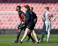 Nnamdi Ofoborh of AFC Bournemouth leaves the field with an injury during AFC Bournemouth Under-21 vs Liverpool Under-21, Premier League Cup Football at the Vitality Stadium on 24th February 2019
