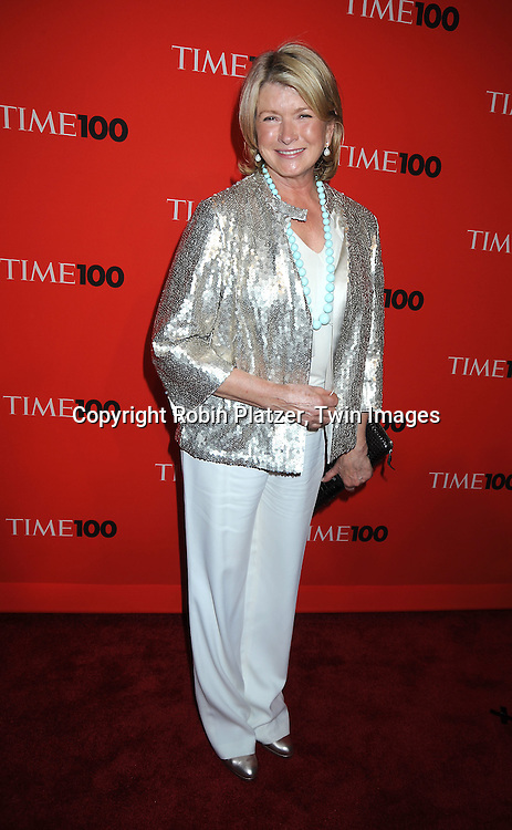 Martha Stewart posing for photographers at the Time Celebrates the Time100 Issue Gala on May 4, 2010 at The Time Warner Center in New York City. The magazine celebrates the 100 Most Influential People in the World.