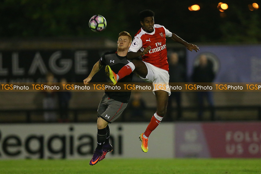 Gedion Zelalem of Arsenal and Harrison Reed of Southampton during Arsenal Under-23 vs Southampton Under-23, Premier League 2 Football at Meadow Park on 14th October 2016