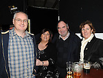 Paul and Brenda Gorman and Richard and Bernie Kelly pictured at the annual game night at Dolly Mitchell's Rossin Slane. Photo: Colin Bell/pressphotos.ie