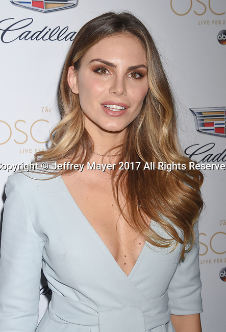 LOS ANGELES, CA - FEBRUARY 23: Model Nina Senicar attends Cadillac's 89th annual Academy Awards celebration at Chateau Marmont on February 23, 2017 in Los Angeles, California.