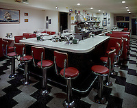 Coffee Shop counter and stools at the El Ray Motel, Wildwood NJ
