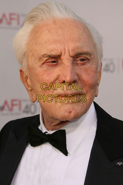 KIRK DOUGLAS.35th AFI Life Achievement Award Honoring Al Pacino held at the Kodak Theatre, Hollywood, California, USA..June 7th, 2007.headshot portrait bow tie .CAP/ADM/RE.©Russ Elliot/AdMedia/Capital Pictures