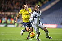 Nadjim Abdou of Millwall clears the danger during the Johnstone's Paint Trophy Southern Final 2nd Leg match between Oxford United and Millwall at the Kassam Stadium, Oxford, England on 2 February 2016. Photo by Andy Rowland / PRiME Media Images.
