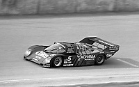 The #5 Porsche 962 of Hans Joachim Stuck, James Weaver and Bob Akin races to a sixth place finish in  the Rolex 24 at Daytona, Daytona International Speedway, Daytona Beach, FL, February 1, 1987.  (Photo by Brian Cleary/www.bcpix.com)