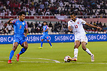Mohamed Saad Alromaihi of Bahrain (R) is challenged by Salam Ranjan Singh of India (L) during the AFC Asian Cup UAE 2019 Group A match between India (IND) and Bahrain (BHR) at Sharjah Stadium on 14 January 2019 in Sharjah, United Arab Emirates. Photo by Marcio Rodrigo Machado / Power Sport Images