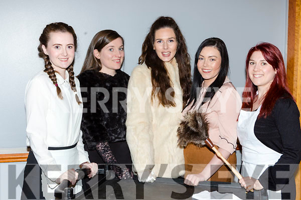 Siobhain Bustin, Cait O'Sullivan, Shinann Buckley-O'Sullivan, Elise O'Donoghue and Sheree Murphy in rehersals for Killarney Muscial Society new musicall Me and My Girl