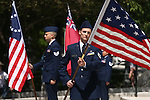 The Nevada Air Guard NCO Academy Graduates Association performs a Five Flag Ceremony at the 2016 Flag Day & Army Birthday ceremony at the Capitol in Carson City, Nev., on Tuesday, June 14, 2016.<br />