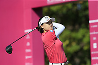In Gee Chun (KOR) tees off the 1st tee during Thursday's Round 1 of The Evian Championship 2018, held at the Evian Resort Golf Club, Evian-les-Bains, France. 13th September 2018.<br /> Picture: Eoin Clarke | Golffile<br /> <br /> <br /> All photos usage must carry mandatory copyright credit (© Golffile | Eoin Clarke)
