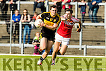 Daithí Casey Dr Crokes in action against Patrick O'Connor Dingle in the Senior County Football Semi Final in Fitzgerald Stadium on Sunday.
