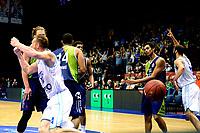 GRONINGEN - Basketbal, Donar - ZZ Leiden, Supersup, seizoen 2018-2019, 06-10-2018,  Donar speler Thomas Koenes juicht na het beslissende punt