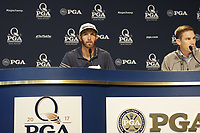 World No.1 Dustin Johnson (USA) press conference during Tuesday's Practice Day of the 2017 PGA Championship held at Quail Hollow Golf Club, Charlotte, North Carolina, USA. 8th August 2017.<br /> Picture: Eoin Clarke | Golffile<br /> <br /> <br /> All photos usage must carry mandatory copyright credit (&copy; Golffile | Eoin Clarke)