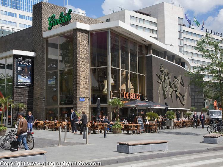 De Beurs restaurant bar and Hilton Hotel, City of Rotterdam, South Holland, Netherlands