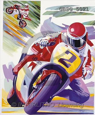 Ron, MASCULIN, paintings, motobike(GBSG5021,#M#)