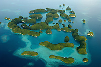 Aerial view of the 70 Island in Palau, Micronesia