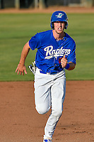 Brock Carpenter (23) of the Ogden Raptors hustles towards third base during the game against the Idaho Falls Chukars in Pioneer League action at Lindquist Field on June 28, 2016 in Ogden, Utah. The Raptors defeated the Chukars 12-11.  (Stephen Smith/Four Seam Images)