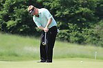 Ross McGowen putting on the 5th green on day two of the Celtic Manor wales Open 2010.Picture Fran Caffrey/Newsfile.ie