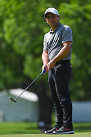 Francesco Molinari (ITA) watches his putt on 2 during round 2 of the 2019 Charles Schwab Challenge, Colonial Country Club, Ft. Worth, Texas,  USA. 5/24/2019.<br /> Picture: Golffile   Ken Murray<br /> <br /> All photo usage must carry mandatory copyright credit (© Golffile   Ken Murray)