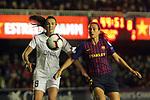 UEFA Women's Champions League 2018/2019.<br /> Quarter Finals.<br /> FC Barcelona vs LSK Kvinner FK: 3-0.<br /> Ingrid Syrstad Engen vs Alexis Putellas.