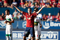 Juan Villar (forward; CA Osasuna) during the Spanish <br /> la League soccer match between CA Osasuna and Elche CF at Sadar stadium, in Pamplona, Spain, on Saturday, <br /> agost 26, 2018.