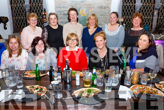 Helen O'Sullivan seated front centre celebrated her 50th birthday with work colleagues and friends at the Oratory in Cahersiveen on Saturday night, pictured front l-r; Maureen Teehan, Sheila Teehan, Helen O'Sullivan, Breda Whittington, Lucy Curran, back l-r; Anne O'Sullivan, Annette Curran, Geraldine Keating, Mairead Teehan, Gemma Final & Mary Breen.