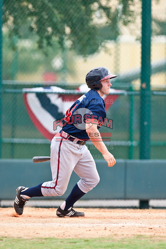 Kurt Fleming of the Gulf Coast League Braves during the game against the Gulf Coast League Tigers July 3 2010 at the Disney Wide World of Sports in Orlando, Florida.  Photo By Scott Jontes/Four Seam Images