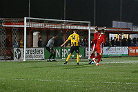 Jake Wright of Boston United scores the 4th goal during Carshalton Athletic vs Boston United, Emirates FA Cup Football at the War Memorial Sports Ground on 9th November 2019