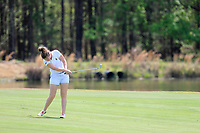 Clarisse Louis (BEL) on the 9th during the second round of the Augusta National Womans Amateur 2019, Champions Retreat, Augusta, Georgia, USA. 04/04/2019.<br /> Picture Fran Caffrey / Golffile.ie<br /> <br /> All photo usage must carry mandatory copyright credit (&copy; Golffile | Fran Caffrey)