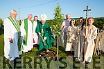Bishop Ray Browne plants a tree for the 1916 remembrance at the opening of the opening of the new Parish Centre in the Church of the Immaculat Conception Currow on Saturday evening Monsignor Dan, Fr Flynn, Fr Buckley Liam Hickey Daniel Foley, Fiona Brosnan and Bryan Roche