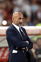 Calcio, Serie A: Roma, stadio Olimpico, 26 agosto, 2017.<br /> Inter's coach Luciano Spalletti waits for the start of the Italian Serie A football match between Roma and Inter at Rome's Olympic stadium, AUGUST 26, 2017.<br /> UPDATE IMAGES PRESS/Isabella Bonotto