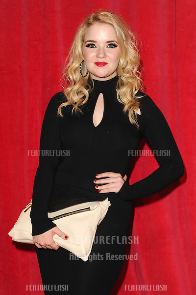 Lorna Fitzgerald arriving for the 2014 British Soap Awards, at the Hackney Empire, London. 24/05/2014 Picture by: Steve Vas / Featureflash