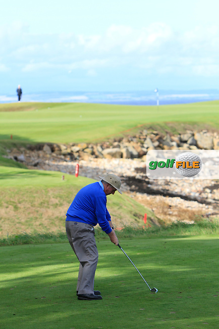 Charlie McCreevy during Round 1of the Alfred Dunhill Links Championship at Kingsbarns Golf Club on Thursday 26th September 2013.<br /> Picture:  Thos Caffrey / www.golffile.ie