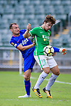 Daniel Cancela of Kitchee SC (L) fights for the ball with Igor Torres Sartori of Wofoo Tai Po (R) during the Hong Kong FA Cup final between Kitchee and Wofoo Tai Po at the Hong Kong Stadium on May 26, 2018 in Hong Kong, Hong Kong. Photo by Marcio Rodrigo Machado / Power Sport Images