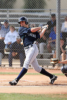 Jake Schlander #53 of the Seattle Mariners plays in a minor league spring training game against the Langley Blaze, an amateur touring team from British Columbia, Canada at the Mariners minor league complex on March 22, 2011  in Peoria, Arizona. .Photo by:  Bill Mitchell/Four Seam Images.
