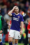 Jack O'Connell of Sheffield Utd looks in shock after his equalising goal was disallowed during the Championship match at the Riverside Stadium, Middlesbrough. Picture date: August 12th 2017. Picture credit should read: Simon Bellis/Sportimage