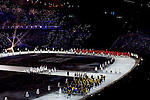 Olympic team of Sweden during the parade of nations at the Opening ceremony of the 2014 Sochi Olympic Winter Games at Fisht Olympic Stadium on February 7, 2014 in Sochi, Russia. Photo by Victor Fraile / Power Sport Images