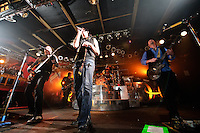 Hinder in concert during Jagermeister Music Tour at Pop's in Sauget, IL on Dec 9, 2008.