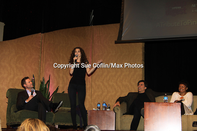 "Alicia Minshew dancing  - A Tribute to Pine Valley - All My Children's Alicia Minshew ""Kendall"" and Jacob Young ""ex JR and ""Rick Forrester"" on The Bold anancingd the Beautiful on February 16, 2013 with fans for Q&A, autographs, photos at Foxwoods Resorts Casino in Mashantucket, CT and February 17, 2013 at Valley Forge Casino Resort in King of Prussia, PA. (Photo by Sue Coflin/Max Photos)"