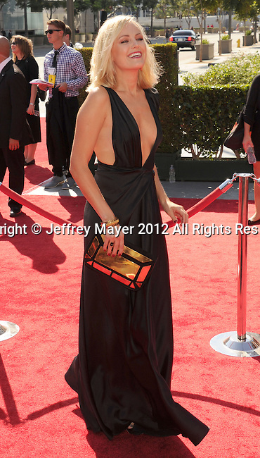 LOS ANGELES, CA - SEPTEMBER 15: Malin Akerman arrives at the 2012 Primetime Creative Arts Emmy Awards at Nokia Theatre L.A. Live on September 15, 2012 in Los Angeles, California.