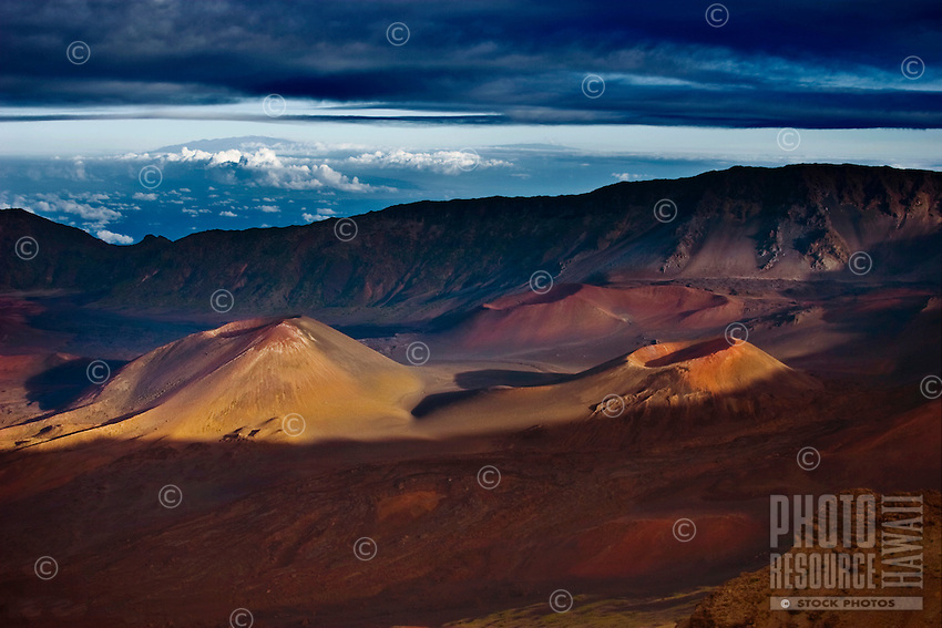 Maui's Haleakala Crater at sunset.