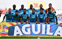 MONTERÍA - COLOMBIA, 23-02-2019: Los jugadores de Jaguares F. C., posan para una foto, antes de partido entre Jaguares F. C., y Cúcuta Deportivo de la fecha 6 por la Liga Águila I 2019, en el estadio Jaraguay de Montería de la ciudad de Montería. / The players of Jaguares F. C., pose for a photo, prior a match between Jaguares F. C., and Cucuta Deportivo, of the 6th date for the Leguaje Aguila I 2019 at Jaraguay de Montería Stadium in Monteria city. Photo: VizzorImage / Andrés López  / Cont.