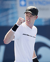 www.acepixs.com<br /> <br /> February 20 2017, Delray Beach<br /> <br /> Kyle Edmund at the 2017 Delray Beach Open an ATP 250 event on February 20 2017 in Delray Beach, Florida.<br /> <br /> By Line: Solar/ACE Pictures<br /> <br /> ACE Pictures Inc<br /> Tel: 6467670430<br /> Email: info@acepixs.com<br /> www.acepixs.com